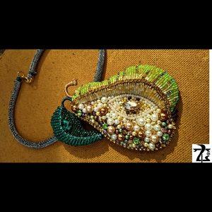 Handmade Pear shaped neck accessory